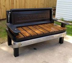 Making this for the Man Cave Garage. Car Part Furniture, Automotive Furniture, Automotive Decor, Furniture Projects, Home Projects, Furniture Plans, Kids Furniture, Automotive Carpet, Furniture Design