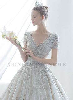 Monica Blanche 2021 Spring Bridal Collection – The FashionBrides Stunning Wedding Dresses, Pure Romance, Gowns With Sleeves, Bridal Collection, Lace Detail, Floral Lace, Pure Products, Chic, Elegant
