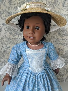 Vintage Hats, Vintage Cotton, Gotz Dolls, American Girl Clothes, Christening Gowns, Boy Doll, 18 Inch Doll, Doll Houses, Handmade Clothes