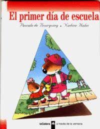 Hoy es el primer día de escuela. Castorita tiene ganas de llorar. ¿Dónde ha metido la cartera nueva? ¿Dónde está la señorita? Búscalo en   http://absys.asturias.es/cgi-abnet_Bast/abnetop?ACC=DOSEARCH&xsqf01=primer+dia+escuela+bourgoing