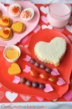 Valentine's Day Snack and Lunch Ideas