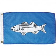 Nyl-Glo Striped Bass Flag-12 in. X 18 in. http://www.pacificcoastflag.com/product-type/sports-recreation-leisure-boating-fishing-auto-racing/12-in-x-18-in-nyl-glo-striped-bass-flag.html