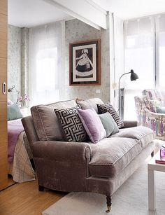 lavender velvet couch
