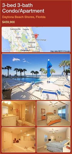 3-bed 3-bath Condo/Apartment in Daytona Beach Shores, Florida ►$459,900 #PropertyForSaleFlorida http://florida-magic.com/properties/58323-condo-apartment-for-sale-in-daytona-beach-shores-florida-with-3-bedroom-3-bathroom