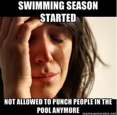 Ahaha summer swim club vs water polo practices.....