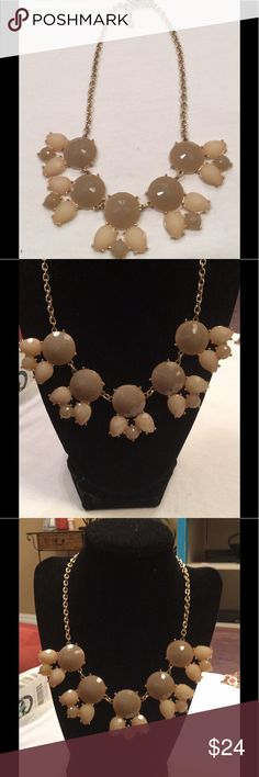 "New Statement Taupe necklace Measures 12"" drop marked Charming Charlie Jewelry Necklaces"