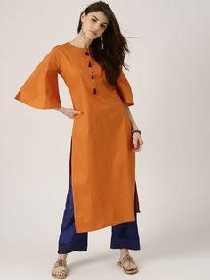 Buy Libas Women Multicoloured Printed High Low Hem A Line Kurta - Kurtas for Women 1752796 | Myntra