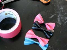 Duct tape bows tutorial