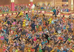 Crowd Pleasers Ballroom Dancing Puzzle 1000 Pieces Jigsaw Puzzle by Jan Van Haasteren Dancer Drawing, Arts And Crafts For Teens, Hd Widescreen Wallpapers, Puzzle Art, Puzzle 1000, Cartoon Art Styles, Sand Crafts, Comic Drawing, Ballroom Dancing