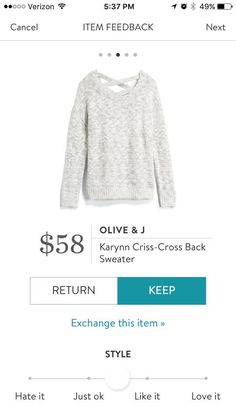 Looks cozy and comfy. Love the criss cross in the back. Like the light gray color.