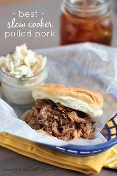 Best Slow Cooker Pulled Pork | recipe on www.crumbsandchaos.net