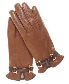 Women's Cashmere Lined Leather Gloves with Bridle Strap By Fratelli Orsini | Free USA Shipping at Leather Gloves Online