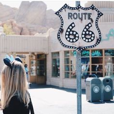 Great shot of Route 66 in Cars Land