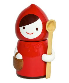 This Little Red Riding Hood Canister by Miya Company is perfect!
