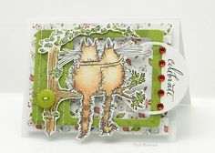 Penny Black Supplies: hanging out! Birthday Cards, Happy Birthday, Penny Black Cards, Cat Cards, Animal Cards, Creative Cards, Hanging Out, Paper Art, Card Making