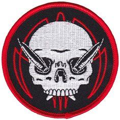 PINSTRIPE SKULL PATCH $6.00 #sourpuss #sourpussclothing #kustomkreeps #skull #pinstripe #patch #rockabilly