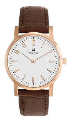 Men's Brown Leather Watch