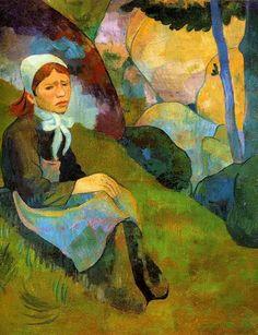 """Paul Serusier (1864-1927) ~ """"Solitude, Huelgoat Landscape"""" - Bretagne ~ Huile sur Toile 60x75cm"""