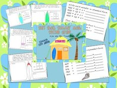 Second Grade Common Core Math: 22 pages and 8 2nd grade CCSS standards. Catch a math wave with the surf shack!
