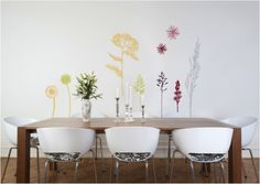 Add A Touch Of Color To A Dining Room With A Whimsical Wall Decal From The.  Color InspirationBrushed Nickel ChandelierWall DecalsPaint ColorsSherwin  William ... Part 30