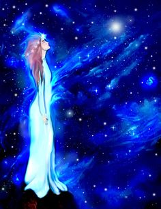 Goddess Art: COSMIC DREAMER Cards and Prints by Montserrat