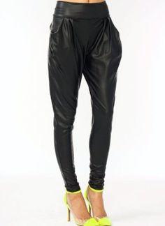 Faux Leather Harem Pants
