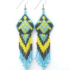 Native turtle earrings