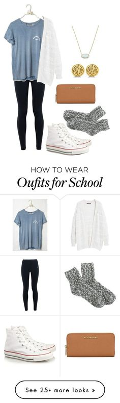 """""""Too cute for school"""" by vineyard-vines-love on Polyvore featuring moda, MICHAEL Michael Kors, NIKE, J.Crew, Violeta by Mango, Converse, Kendra Scott, Allurez, women's clothing y women Casual Dresses, Women fashion, dress, clothe, women's fashion, outfit inspiration, pretty clothes, shoes, bags and accessories"""