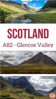 s Glencoe Valley Scotland A82 Scotland drive