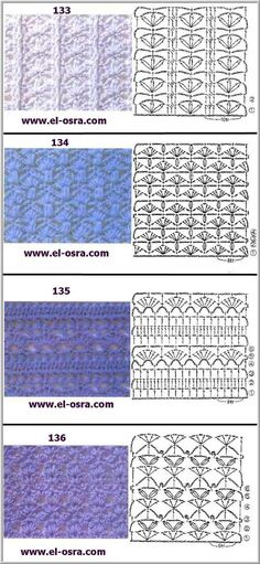 Crochet stitch chart pattern