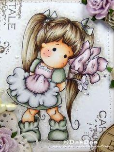 Copics:  Haut/Skin: E13-E11-E00-E000-E0000  Wangen/Cheeks: R20-R00  Haare/Hair: E49-E47-E44-E43-E42-E41  Kleidung/Clothes: BG96-BG93-BG90  RV95-RV93-RV91-N3-N1-N0  Blume/Flower: RV95-RV93-RV91-E77-E72-E70  Hintergrund/Background: W3-W1-W0-Blender 0 by ester