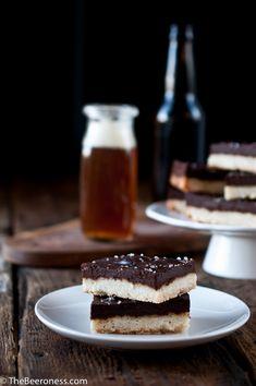 Chocolate Stout Shortbread Cookies
