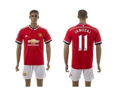 2015-2016 Man Utd #11 JANUZAJ Home Red Soccer Jersey