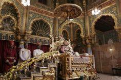 Steps to the Royal throne,Mysore palace,Karnataka,India