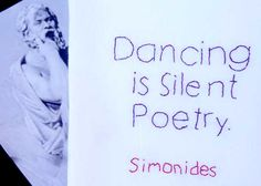 Dancing is Silent Poetry ... Words of Wisdom from a Greek Poet Embroidered by Hand  Kitchen Tea Towel.