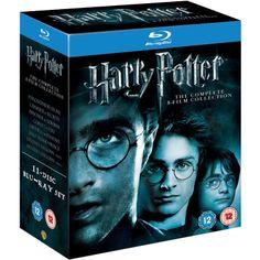 Amazon.com: Harry Potter: The Complete 8-Film Collection [Blu-ray] [2011]: Daniel Radcliffe, Emma Watson, Rupert Grint, Ralph Fiennes, Helena Bonham Carter, David Yates: Movies & TV
