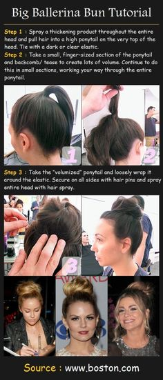 By Carrie Ann. I found a simple messy bun tutorial that gives you fullness. Try Bed Head's Superstar for added thickness! #updo @Bloom.com