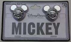 Disney Parks Mickey Mouse License Plate Bolt Covers - Set of 2 - Disney parks Exclusive & Limited Availability Disney