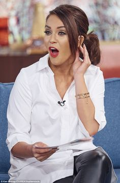 Cheeky! Vicky Pattison impressed as she took on the role of showbiz correspondent on Thurs...