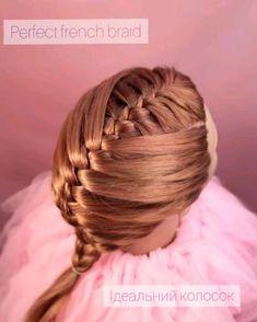 Easy Hairstyles For Thick Hair, Hair Tutorials For Medium Hair, Braided Ponytail Hairstyles, Braids For Short Hair, Pretty Hairstyles, Girl Hairstyles, Easy And Beautiful Hairstyles, Hair Style Vedio, Girl Hair Dos