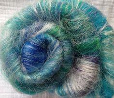 Alpaca/Merino/Silk - Ocean  Candy Spinning batt (Smooth) - July 2013 Phat Fiber - 2 ounces on Etsy, $11.00