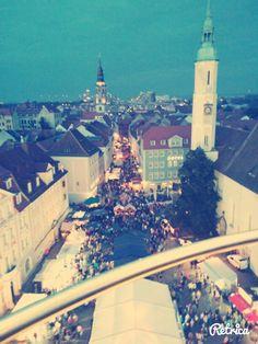City of Germany love lunapark Poland and Germany