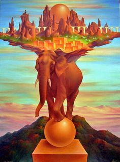 Kot Valeriy, Ballance of Power, art, painting,