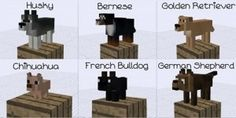 Minecraft dogs, too cute P.S. YOU CAN INSTALL THE MOD