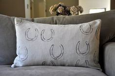 Horse shoe fabric. Use old horse shoes & ink to stamp fabic?