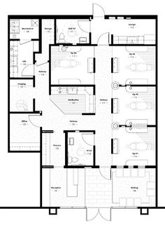 Chiropractic Office Plan With Expansion 1820 Gross Sq