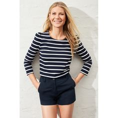 A goop favorite, the eternally classic navy-and-white Breton stripe is upgraded with a curve-skimming shape (tuck it into the Bardot Shorts for the easiest...