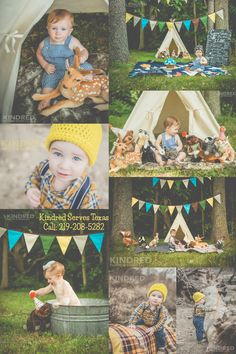 one year old toddler baby first birthday shoot woodland themed deer animals stuffed cute teepee woods forest fairy tale boy pictures photos poses kindred photo and video llc lumberjack baby hipster kid kiddos themed party fiesta outdoor shots texas longview kilgore tyler overton bullard east texas