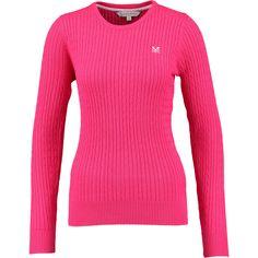 """Crew Clothing Co."" Fuchsia Cable Knit Jumper - TK Maxx"
