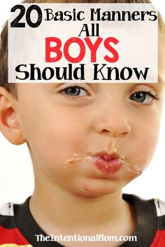 Manners are a vital skill to have in life, at least if one is to succeed. Manners do have to be taught, however. Here are 20 timeless manners for boys. via @www.pinterest.com/JenRoskamp